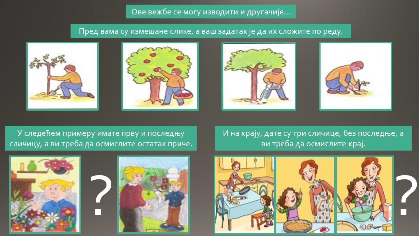 Говорна вежба: приче у сликама