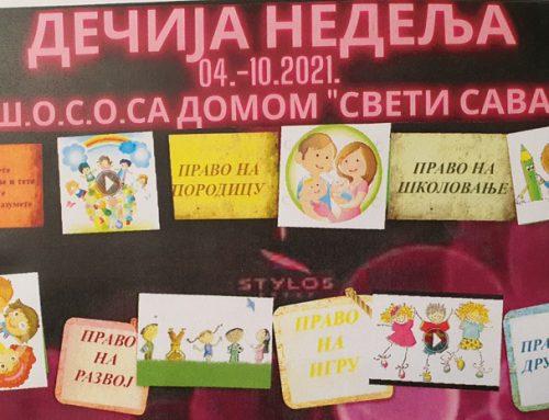 """Дечија недеља под слоганом """"Дете је дете да га волите и разумете"""" – 4.-10.10.2021."""